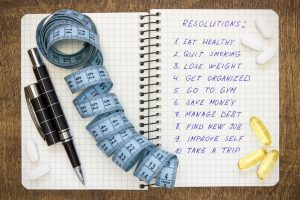 Healthy and ambitious  resolutions
