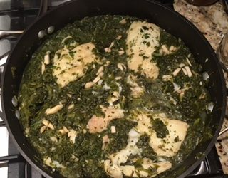Recipe for Dover Sole and Spinach